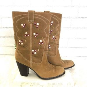 Seychelles Embroidered western style booties
